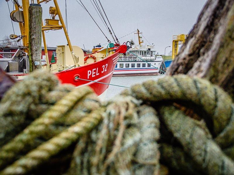 Der Pellwormer Hafen an Pfingsten 2014 aus der Luft gefilmt