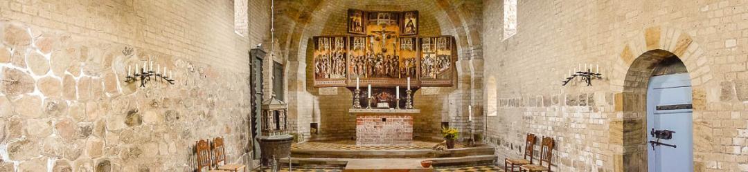 Die Apsis der Alten Kirche im Panoramaformat