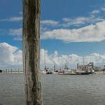 Hoher Wasserstand im Hafen
