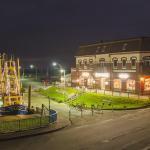 Hafen von Pellworm bei Nacht