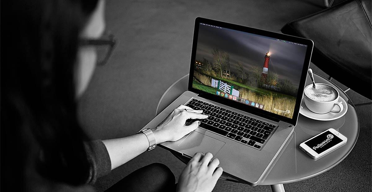 Der Pellwormer Leuchtturm bei Nacht als kostenloser Download