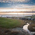 Pellworm - der Hafen im Sonnenuntergang