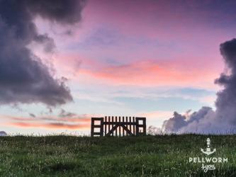 Himmelspforte auf Pellworm im Abendlicht