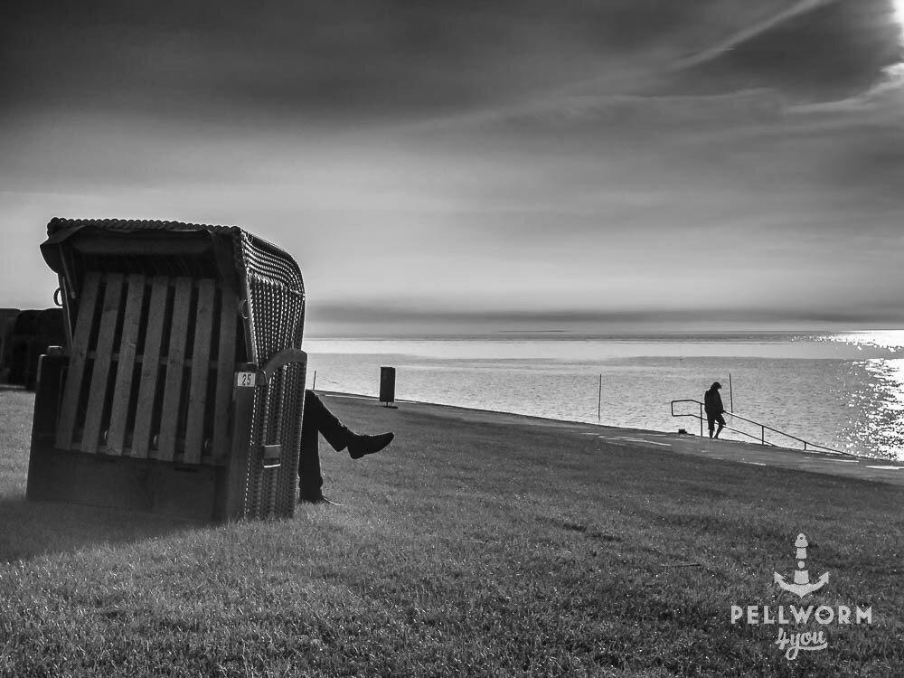 Pause am grünen Strand von Pellworm