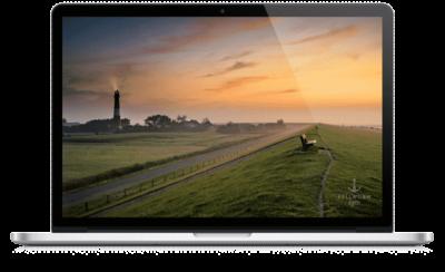 Malerischer Tagesanbruch auf Pellworm als Desktophintergrund