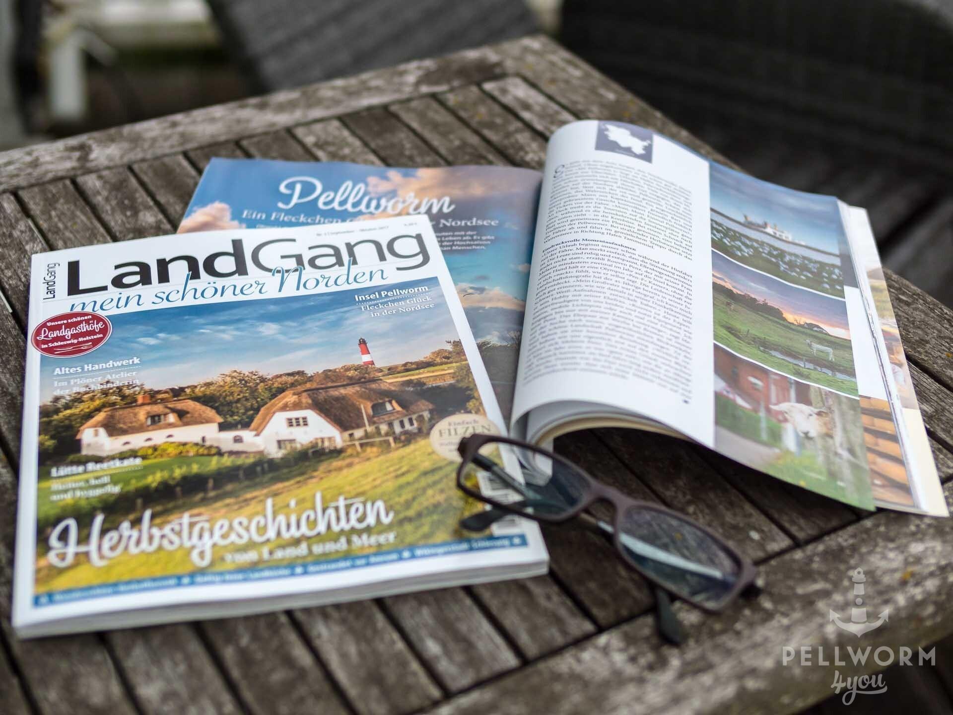 Die Zeitschrift Landgang mit einem Titelbild von Pellworm4you