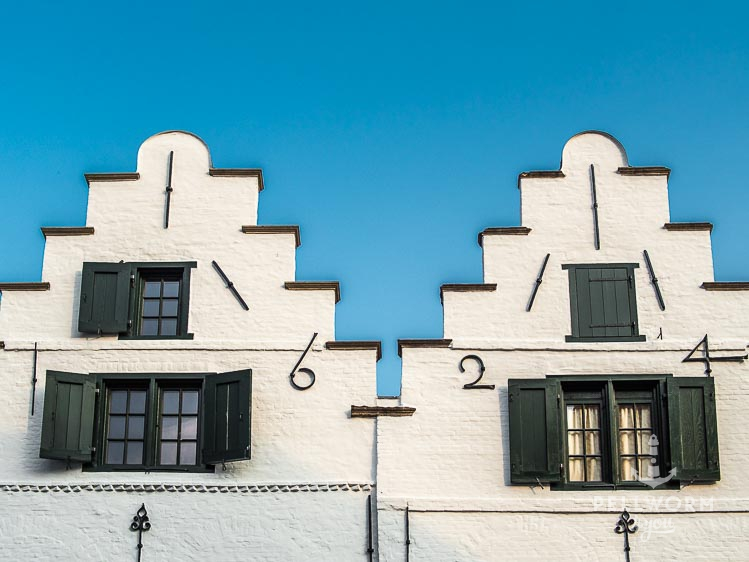 Historische Hausfassade in Friedrichstadt